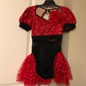 Red/black dance costume